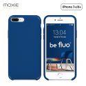 Moxie Coque iPhone 7 Plus/8 Plus [BeFluo] Coque Silicone Fine et Légère pour iPhone 8 Plus et iPhone 7 Plus, Intérieur Microfibre, Coque Anti-chocs et Anti-rayures pour iPhone 8+/7+ - Bleu Marine