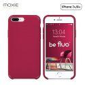 Moxie Coque iPhone 7 Plus/8 Plus [BeFluo] Coque Silicone Fine et Légère pour iPhone 8 Plus et iPhone 7 Plus, Intérieur Microfibre, Coque Anti-chocs et Anti-rayures pour iPhone 8+/7+ - Framboise