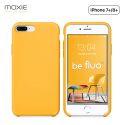 Moxie Coque iPhone 7 Plus/8 Plus [BeFluo] Coque Silicone Fine et Légère pour iPhone 8 Plus et iPhone 7 Plus, Intérieur Microfibre, Coque Anti-chocs et Anti-rayures pour iPhone 8+/7+ - Jaune