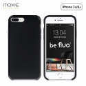 Moxie Coque iPhone 7 Plus/8 Plus [BeFluo] Coque Silicone Fine et Légère pour iPhone 8 Plus et iPhone 7 Plus, Intérieur Microfibre, Coque Anti-chocs et Anti-rayures pour iPhone 8+/7+ - Noir