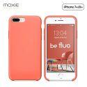 Moxie Coque iPhone 7 Plus/8 Plus [BeFluo] Coque Silicone Fine et Légère pour iPhone 8 Plus et iPhone 7 Plus, Intérieur Microfibre, Coque Anti-chocs et Anti-rayures pour iPhone 8+/7+ - Rose Pastel