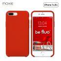 Moxie Coque iPhone 7 Plus/8 Plus [BeFluo] Coque Silicone Fine et Légère pour iPhone 8 Plus et iPhone 7 Plus, Intérieur Microfibre, Coque Anti-chocs et Anti-rayures pour iPhone 8+/7+ - Rouge