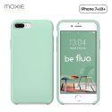 Moxie Coque iPhone 7 Plus/8 Plus [BeFluo] Coque Silicone Fine et Légère pour iPhone 8 Plus et iPhone 7 Plus, Intérieur Microfibre, Coque Anti-chocs et Anti-rayures pour iPhone 8+/7+ - Menthe