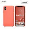 """Moxie Coque iPhone XS / iPhone X [BeFluo] Coque Silicone Fine et Légère pour iPhone XS 5.8"""" et iPhone X, Intérieur Microfibre, Coque Anti-chocs et Anti-rayures pour iPhone XS/X - Rose Pastel"""