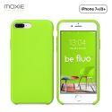 Moxie Coque iPhone 7 Plus/8 Plus [BeFluo] Coque Silicone Fine et Légère pour iPhone 8 Plus et iPhone 7 Plus, Intérieur Microfibre, Coque Anti-chocs et Anti-rayures pour iPhone 8+/7+ - Vert Pomme