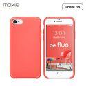 Moxie Coque iPhone 7/8/SE 2020 [BeFluo] Coque Silicone Fine et Légère pour iPhone 8, iPhone 7 et iPhone SE 2020, Intérieur Microfibre, Coque Anti-chocs et Anti-rayures pour iPhone 8/7/SE 2020 - Rose Vif