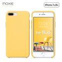 Moxie Coque iPhone 7 Plus/8 Plus [BeFluo] Coque Silicone Fine et Légère pour iPhone 8 Plus et iPhone 7 Plus, Intérieur Microfibre, Coque Anti-chocs et Anti-rayures pour iPhone 8+/7+ - Jaune Clair