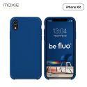 """Moxie Coque iPhone XR [BeFluo] Coque Silicone Fine et Légère pour iPhone XR 6.1"""", Intérieur Microfibre, Coque Anti-chocs et Anti-rayures pour iPhone XR - Bleu Marine"""