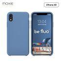 """Moxie Coque iPhone XR [BeFluo] Coque Silicone Fine et Légère pour iPhone XR 6.1"""", Intérieur Microfibre, Coque Anti-chocs et Anti-rayures pour iPhone XR - Bleu Acier"""