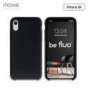 Moxie Coque iPhone XR [BeFluo] Coque Silicone Fine et Légère pour iPhone XR 6.1, Intérieur Microfibre, Coque Anti-chocs et Anti-rayures pour iPhone XR - Noir