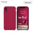 Moxie Coque iPhone XR [BeFluo] Coque Silicone Fine et Légère pour iPhone XR 6.1, Intérieur Microfibre, Coque Anti-chocs et Anti-rayures pour iPhone XR - Framboise