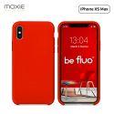 """Moxie Coque iPhone XS Max [BeFluo] Coque Silicone Fine et Légère pour iPhone XS Max 6.5"""", Intérieur Microfibre, Coque Anti-chocs et Anti-rayures pour iPhone XS Max - Rouge"""