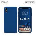 """Moxie Coque iPhone XS Max [BeFluo] Coque Silicone Fine et Légère pour iPhone XS Max 6.5"""", Intérieur Microfibre, Coque Anti-chocs et Anti-rayures pour iPhone XS Max - Bleu Marine"""