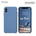 """Moxie Coque iPhone XS Max [BeFluo] Coque Silicone Fine et Légère pour iPhone XS Max 6.5"""", Intérieur Microfibre, Coque Anti-chocs et Anti-rayures pour iPhone XS Max - Bleu Acier"""