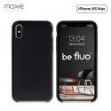 """Moxie Coque iPhone XS Max [BeFluo] Coque Silicone Fine et Légère pour iPhone XS Max 6.5"""", Intérieur Microfibre, Coque Anti-chocs et Anti-rayures pour iPhone XS Max - Noir"""