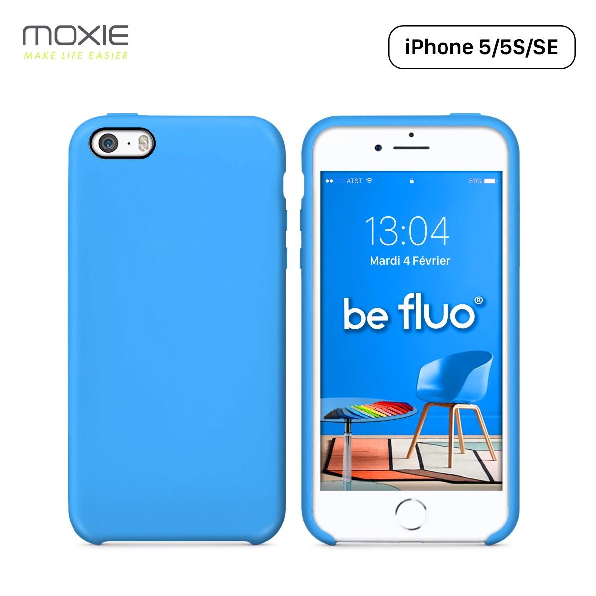 Moxie Coque iPhone 5/5S/SE [BeFluo] Coque Silicone Fine et Légère ...