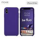 """Moxie Coque iPhone XS Max [BeFluo] Coque Silicone Fine et Légère pour iPhone XS Max 6.5"""", Intérieur Microfibre, Coque Anti-chocs et Anti-rayures pour iPhone XS Max - Violet"""