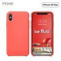 """Moxie Coque iPhone XS Max [BeFluo] Coque Silicone Fine et Légère pour iPhone XS Max 6.5"""", Intérieur Microfibre, Coque Anti-chocs et Anti-rayures pour iPhone XS Max - Rose Vif"""
