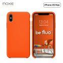 """Moxie Coque iPhone XS Max [BeFluo] Coque Silicone Fine et Légère pour iPhone XS Max 6.5"""", Intérieur Microfibre, Coque Anti-chocs et Anti-rayures pour iPhone XS Max - Orange"""