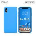 """Moxie Coque iPhone XS Max [BeFluo] Coque Silicone Fine et Légère pour iPhone XS Max 6.5"""", Intérieur Microfibre, Coque Anti-chocs et Anti-rayures pour iPhone XS Max - Bleu Clair"""