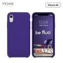 Moxie Coque iPhone XR [BeFluo] Coque Silicone Fine et Légère pour iPhone XR 6.1, Intérieur Microfibre, Coque Anti-chocs et Anti-rayures pour iPhone XR - Violet