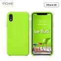 Moxie Coque iPhone XR [BeFluo] Coque Silicone Fine et Légère pour iPhone XR 6.1, Intérieur Microfibre, Coque Anti-chocs et Anti-rayures pour iPhone XR - Vert Pomme