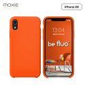 Moxie Coque iPhone XR [BeFluo] Coque Silicone Fine et Légère pour iPhone XR 6.1, Intérieur Microfibre, Coque Anti-chocs et Anti-rayures pour iPhone XR - Orange