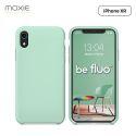 Moxie Coque iPhone XR [BeFluo] Coque Silicone Fine et Légère pour iPhone XR 6.1, Intérieur Microfibre, Coque Anti-chocs et Anti-rayures pour iPhone XR - Menthe