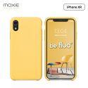 Moxie Coque iPhone XR [BeFluo] Coque Silicone Fine et Légère pour iPhone XR 6.1, Intérieur Microfibre, Coque Anti-chocs et Anti-rayures pour iPhone XR - Jaune Clair