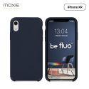 Moxie Coque iPhone XR [BeFluo] Coque Silicone Fine et Légère pour iPhone XR 6.1, Intérieur Microfibre, Coque Anti-chocs et Anti-rayures pour iPhone XR - Bleu Foncé