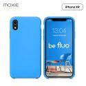 Moxie Coque iPhone XR [BeFluo] Coque Silicone Fine et Légère pour iPhone XR 6.1, Intérieur Microfibre, Coque Anti-chocs et Anti-rayures pour iPhone XR - Bleu Clair