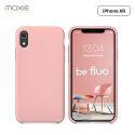 Moxie Coque iPhone XR [BeFluo] Coque Silicone Fine et Légère pour iPhone XR 6.1, Intérieur Microfibre, Coque Anti-chocs et Anti-rayures pour iPhone XR - Rose Clair
